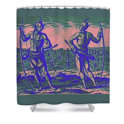 Weroans Of Virginia 1590 Shower Curtain by Peter Gumaer Ogden