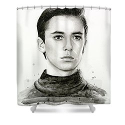 Wesley Crusher Star Trek Fan Art Shower Curtain