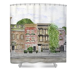 West 11th St In Greenwich Village Shower Curtain
