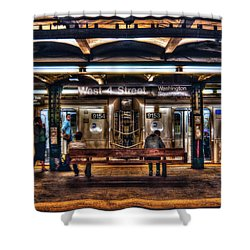 West 4th Street Subway Shower Curtain by Randy Aveille