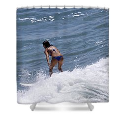 West Coast Surfer Girl Shower Curtain by Duncan Selby