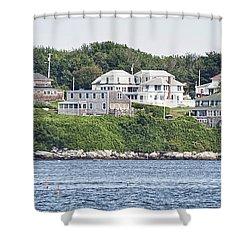 West End Long Island Maine Shower Curtain by Richard Bean