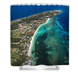 West End Roatan Honduras Shower Curtain
