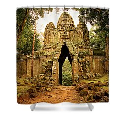 West Gate To Angkor Thom Shower Curtain by Artur Bogacki