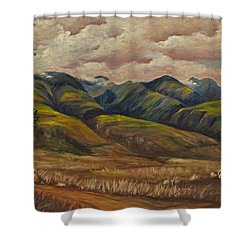 Shower Curtain featuring the painting West Maui Splender  by Darice Machel McGuire