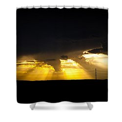 West Of Town Shower Curtain
