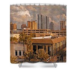 West Palm Beach Florida Shower Curtain by Debra and Dave Vanderlaan