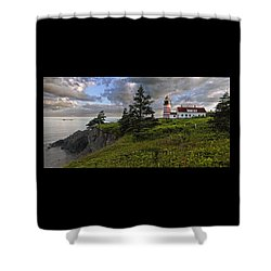 West Quoddy Head Lighthouse Panorama Shower Curtain