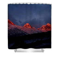 West Side Teton Sunset Shower Curtain by Raymond Salani III