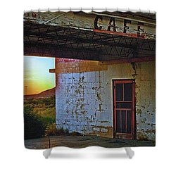 West Texas Cafe Shower Curtain by Brian Kerls