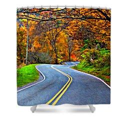 West Virginia Curves 2 Oil Shower Curtain by Steve Harrington