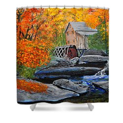 West Virginia Grist Mill Shower Curtain by William Tremble