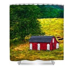 West Virginia Impasto Shower Curtain by Steve Harrington