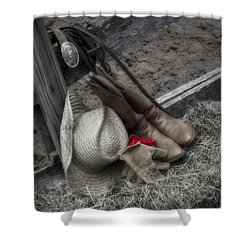 Western Accessories Shower Curtain by Susan Candelario