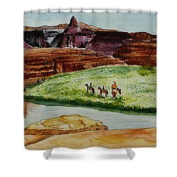 Western Canyons Shower Curtain