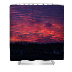Western Evening Shower Curtain