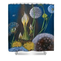 Western Goat's Beard Weed Shower Curtain