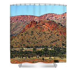 Shower Curtain featuring the photograph Western Macdonnell Ranges by Paul Svensen