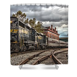 Western Maryland Scenic Railroad Shower Curtain by Jeannette Hunt