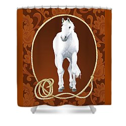 Western Roundup Standing Horse Shower Curtain