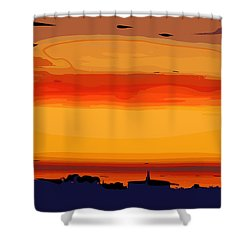 Shower Curtain featuring the digital art Western Sky by Kirt Tisdale