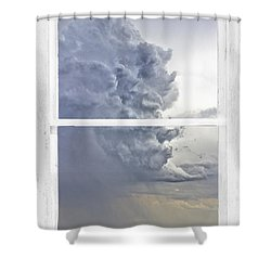 Western Storm Farmhouse Window Art View Shower Curtain by James BO  Insogna