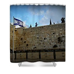 Western Wall And Israeli Flag Shower Curtain