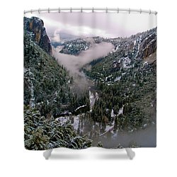 Western Yosemite Valley Shower Curtain