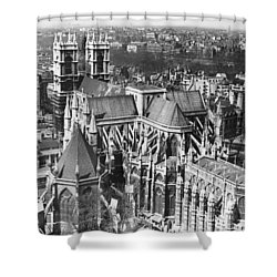 Westminster Abbey In London Shower Curtain by Underwood Archives
