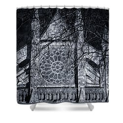 Westminster Abbey North Transept Shower Curtain by Joan Carroll
