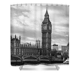 Westminster Panorama Shower Curtain by Heather Applegate