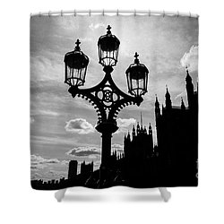 Shower Curtain featuring the photograph Westminster Silhouette by Matt Malloy