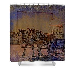 Westmoreland Mule Day Shower Curtain by EricaMaxine  Price