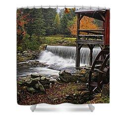 Weston Grist Mill Shower Curtain by Priscilla Burgers