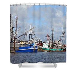 Westport Fishing Boats 2 Shower Curtain