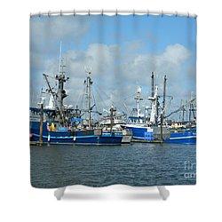 Westport Fishing Boats Shower Curtain