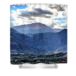 Westside Colorado Springs Shower Curtain by Clarice  Lakota