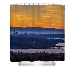 Gateway To Seattle Shower Curtain by Ken Stanback