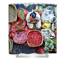 Wet Market In Ubud Shower Curtain