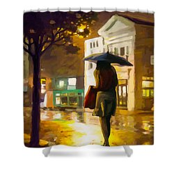 Wet Night Shower Curtain
