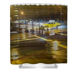 Shower Curtain featuring the photograph Wet Pavement by Alex Lapidus