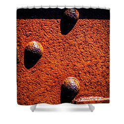 Wet Rivets  Shower Curtain by Bob Orsillo