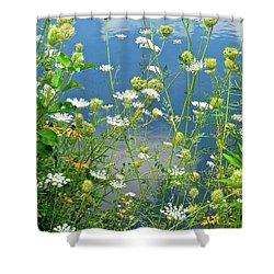 Wetland Wildflowers Shower Curtain