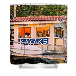 Wetspot Kayak Shack Shower Curtain
