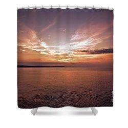 Shower Curtain featuring the photograph Weymoth Morning Glory by Baggieoldboy