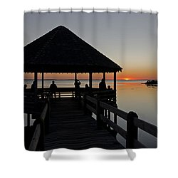 Shower Curtain featuring the photograph Whalehead Sunset Obx by Greg Reed