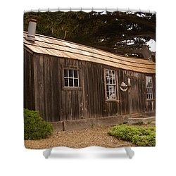 Whalers Cabin Shower Curtain by Barbara Snyder