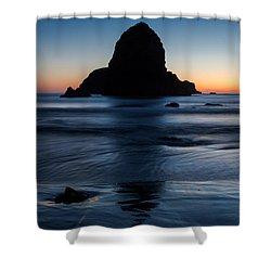 Whaleshead Beach Sunset Shower Curtain