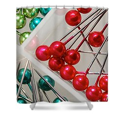 What A Buncha Pinheads Shower Curtain by Margie Chapman