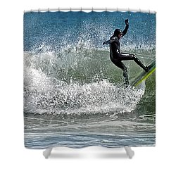 What A Ride Shower Curtain by Sami Martin